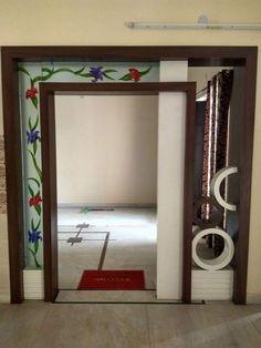 partition design0013 Living Room Partition Design, Pooja Room Door Design, Living Room Tv Unit Designs, Room Partition Designs, Partition Walls, Interior Door Colors, Interior Design, Wooden Partitions, Bedroom Furniture Design