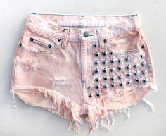 Bettinis Dip Dye Shorts Peach
