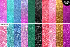 20 GLITTER Textures / Backgrounds