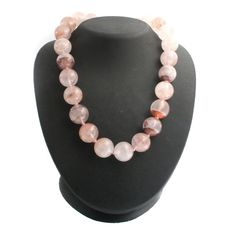 "Rarities: Carol Brodie Strawberry Quartz Sterling 18"" Beaded Necklace K899"