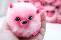 Pygmy Puffs (made with puff balls and clay)