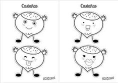 dibujo de castañas - Buscar con Google Autumn Activities For Kids, Crafts For Kids, Arts And Crafts, Wedding Tissues, Spanish Activities, Kindergarten Crafts, Working With Children, Conte, School Projects