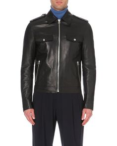 Lanvin Zip-detail Leather Jacket - For Men in Black for Men