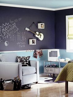 boys room ideas diy Image My boys would love drawing all over their walls like this! :)