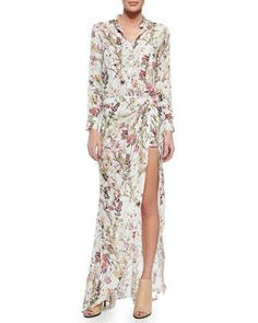 Floral-Print Short Jumpsuit with Maxi Skirt by Haute Hippie at Neiman Marcus.