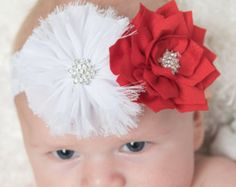 Items similar to Christmas Headband, Red Headband, Leopard Print Headband,  Red Lace Headband, Photo Prop, Baby Headband, Girl Headband on Etsy