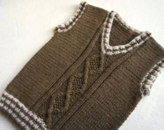 Children hand knitted wool vest, Knitted Baby/ Toddler Vest, Boy brown vest, Tank top for boy – Hand Knitting Crochet Beanie Pattern, Vest Pattern, Sweater Knitting Patterns, Hand Knitting, Knit Patterns, Baby Boy Vest, Toddler Vest, Baby Boys, Hand Knitted Sweaters