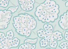Sanderson Jewel Leaves Mineral / Blue Wallpaper main image