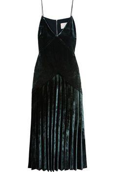 Emerald velvet dress