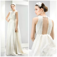 Love this open backed wedding dress by Jesus Peiro