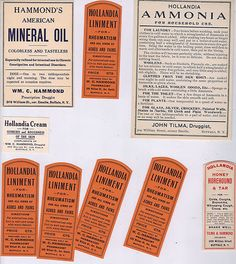 ANTIQUE APOTHECARY PHARMACY MEDICAL LABELS 1900'S