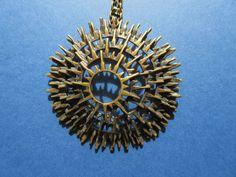 Modernist Brutalist Bronze necklace 1960? Finland? Turun Hopea?