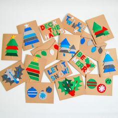 Make your own Felt Christmas Cards