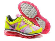 buy popular 4457b baadf Newest Womens Nike Air Max 2012 White Hot Pink Hot Lime Dark Grey Shoes  Running Shoes Shop