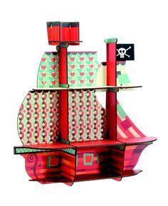 Djeco ~ Shelf ~ Pirate's Ship Wooden Shelves, Wall Shelves, Display Shelves, Bedroom Themes, Kids Bedroom, The Pirates, Bateau Pirate, Room Deco, Craft Kids