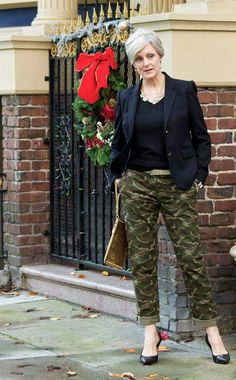 trends come and go, but true style is ageless — holly jolly christmas: pants Over 60 Fashion, Mature Fashion, Older Women Fashion, Over 50 Womens Fashion, 50 Fashion, Autumn Fashion, Fashion Outfits, Work Fashion, Fashion Online