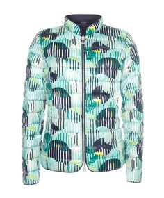 Lebek Reversible jacket 50910002 in the collection from Irish Handcrafts instore and online. Irish Fashion, Green Print, Quilted Jacket, Summer Wardrobe, Seasons, Jackets, Collection, Down Jackets, Padded Jacket