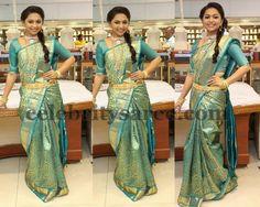 Shree Green Silk Saree | Saree Blouse Patterns