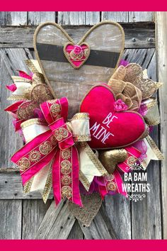 Sharing a Valentine wreath created by Trendy Tree customer, Ba Bam Wreaths. It's for sale in her Etsy shop. Shop the Trendy Tree website for mesh - ribbon - wreath forms - silk flowers and seasonal decor. Valentine Day Wreaths, Valentines Day Decorations, Valentine Day Crafts, Easter Wreaths, Holiday Wreaths, Valentine Ideas, Printable Valentine, Homemade Valentines, Spring Wreaths