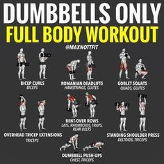 Dumbbell Workout Plan Part Arms Dumbbell Workout Plan - ARMS! All you've got at home is a pair of dumbbells? Fear not? There is Still plenty of moves you can do to hit just about every major muscle group - ARMS. Although all arm dumbbell exercise Gym Workout Tips, Weight Training Workouts, At Home Workout Plan, No Equipment Workout, At Home Workouts, Training Plan, Arm Workouts For Men, Gym Workout Plans, Shoulder Workouts For Men