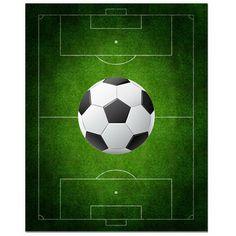 Secretly Designed Soccer Field Art Print