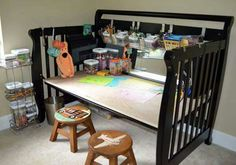 Recycled crib - great idea!