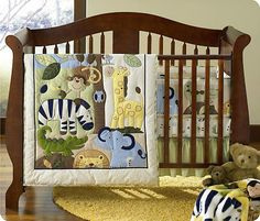 Jungle 4 Piece Baby crib set...love this one!