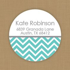 Custom return address labels chevron by brownpapergoods on Etsy, $10.50