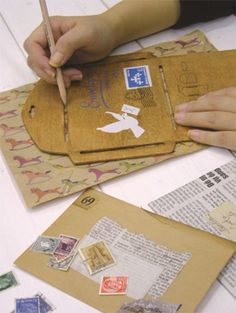 DIY wooden envelope template