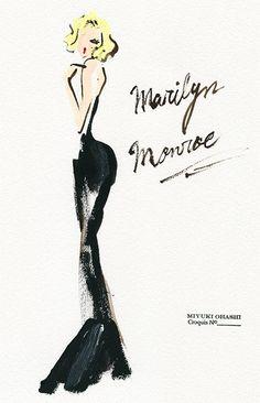 Marilyn Monroe by Miyuki Ohashi