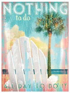Choose between affordable Lithograph on Paper prints that are perfect for framing on your own, or larger Gallery Wrapped Giclee on Canvas pieces to really make a statement in your coastal home! Summer Beach, Summer Fun, Beach Quotes, Ocean Quotes, I Love The Beach, Just Dream, Beach Signs, Surf Art, Beach Themes