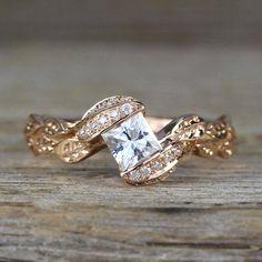 princess cut ring with band 9020 Boho Engagement Ring, Elegant Engagement Rings, Princess Cut Engagement Rings, Round Diamond Engagement Rings, Diamond Wedding Rings, Diamond Rings, Wedding Rings Vintage, Wedding Jewelry, Boho Wedding