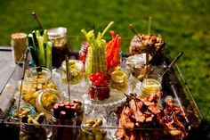 14 Creative Wedding Buffets to Save Your Budget via Brit + Co. Bloody Mary Bar