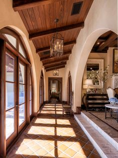 17 Magnificent Mediterranean Hallway Designs To Navigate Through Your HomeYou can find Mediterranean homes and more on. Mediterranean Style Homes, Spanish Style Homes, Spanish House, Mediterranean Architecture, Spanish Style Interiors, Spanish Style Bathrooms, Spanish Colonial, Dream Home Design, My Dream Home