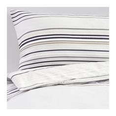 IKEA - PALMLILJA, Duvet cover and pillowcase(s), Sateen-woven bed linen in lyocell/cotton is very soft and pleasant to sleep in, and has a pronounced luster that makes it look beautiful on your bed.Lyocell keeps you dry and comfortable all through the night, because it absorbs and transports moisture away and helps your body maintain a comfortable, even temperature.The zipper keeps the comforter in place.