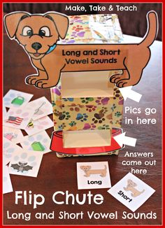 Fun activity for learning short and long vowel sounds. The self checking feature of this activity makes it ideal for independent centers!
