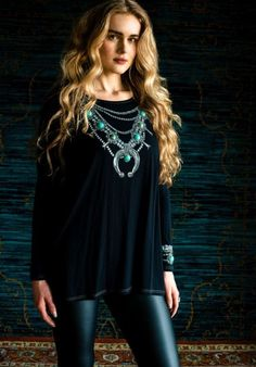 Double D Ranch Fall 2016 Squash Blossom Top - embroidery, western fashion, western, NFR  http://www.cowgirlkim.com/double-d-ranch-fall-2016-squash-blossom-top.html