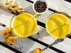 Alcoholic Drinks, Wine, Vegan, Fruit, Healthy, Desserts, Food, Turmeric Milk, Golden Milk