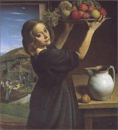 1921 Achille Funi (1890-1972) Italian Artist  ACHILLE FUNI (Ferrara, 26 febbraio 1890 – Appiano Gentile, 26 luglio 1972)   #TuscanyAgriturismoGiratola