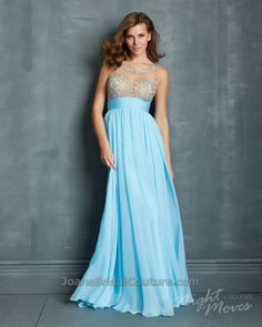 8c44dcc50b3 Night Moves by Allure 2014 Prom Dresses - Light Blue Chiffon Empire Waist Prom  Gown