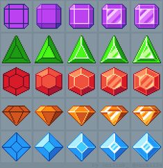 """Marmontel Boris on Twitter: """"Tutorial: how to draw jewels. #gamedev #indiedev #pixelart http://t.co/PXBtBCHV9g"""""""