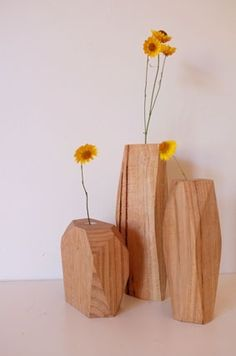 Image of Fasett Flower Vessel- post manufacture timber waster with eco wood oil