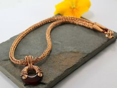 Alkebulan  Bronze Viking knit chain with by Abbyjewellery on Etsy
