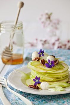 Green Apple Salad with Celery, Pecans & Honey via Cooking Melangery