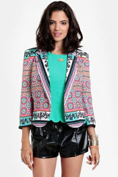 Ladakh Resort Scarf Printed Jacket, $80, available at Threadsence.