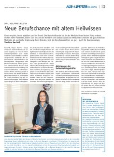 Zürcher Tages-Anzeiger: Sandra Blabl (43): Von der IT-Branche zur Naturheilkunde (www.vis-vitalis.ch)
