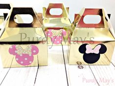 Minnie Mouse Favor Boxes Minnie Mouse Party Favors Minnie