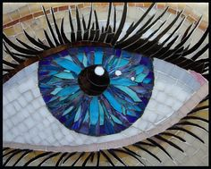 Image result for mosaic human eyes