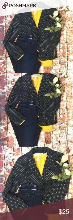 {Banana Republic} Dark navy blazer with polkadots Preppy banana republic blazer dark navy with white polkadots. Size 4. Banana Republic Jackets & Coats Blazers
