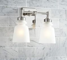 Benchwright Double Sconce, Polished Nickel. Bathroom Lighting ...